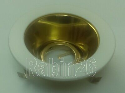 "4"" INCH RECESSED LIGHT SMOOTH POLISHED GOLD BRASS CONE REFLECTOR TRIM MR16 12V"
