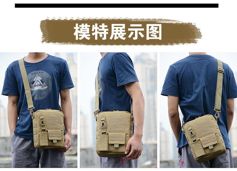 Men Backpack Molle Tactical Sling Chest Bag Assault Pack Messenger Shoulder Bag Bags