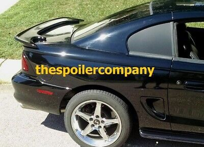 "FOR FORD MUSTANG CONVERTIBLE PRE-PAINTED ""Saleen-Style"" Rear Spoiler 1994-1998"