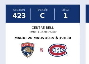 Billets hockey Canadiens contre Panthers