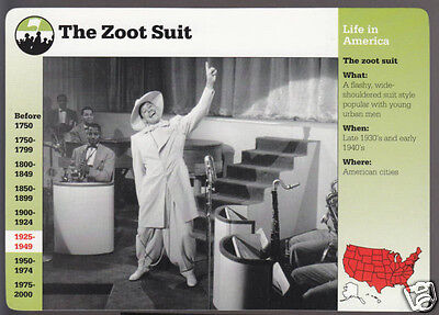 Fashion Zoot Suit (THE ZOOT SUIT Bandleader Cab Calloway Fashion GROLIER STORY OF AMERICA CARD)