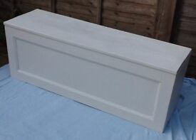 Solid pine painted blanket box, toy box, storage box, chest