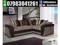 ** 25% off **Lush Sofa Crush Velvet / Fabric avalible in 3+2 Seater or Corner Sofa