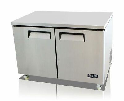 Migali C-u48r-hc Commercial Two Door Undercounter Refrigerator