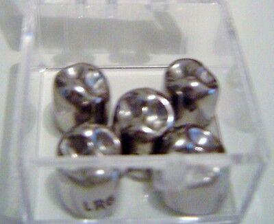 Stainless Steel Dental Crowns Permanent Bicuspid Refills 5box 44 Sizes Fda