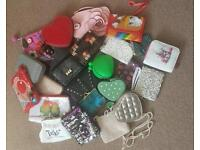 Girls bags, purses and phone cases