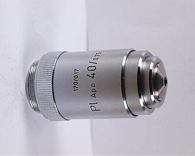 Leitz Pl Apo 40x 170mm Tl Microscope Objective