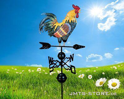 Schöner Metall Wetterhahn Hahn Windspiel Windrad Handarbeit beidseitig bemalt !!