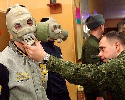 Russische Gasmaske Schutzmaske PMG Gr. 3 (groß) mit ABC-Filter und Tragetasche