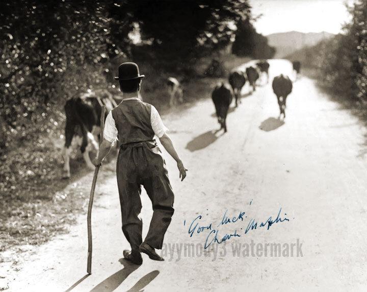 "Charlie Chaplin 8""x10"" Autographed Sepia Toned Photograph - RP"