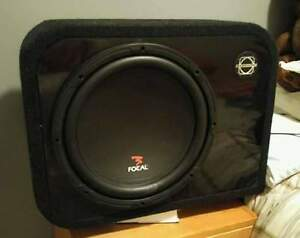 "12"" Focal Sub and 5 channel amp combo."