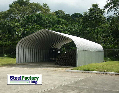 Steel Factory Do It Yourself Carport P-series 30x30x15 Pitched Roof Building Kit
