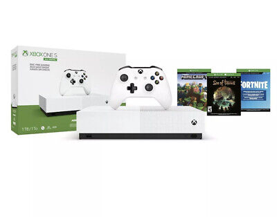 """Microsoft Xbox One S 1TB Console - """"All Digital"""" Plus 3 Game Bundle Fast Shipped"""
