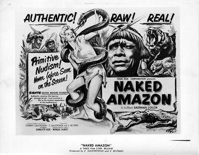 Naked Amazon Primitive Nudism Original 1955 Exploitation Movie Lobby Photo