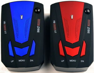 Brand New 360 Degree 16 Band V7 Radar Detector - Blue or Red