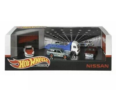 Hot Wheels Premium NISSAN Garage Diorama Datsun 510 Fairlady Z Laurel Aero Lift