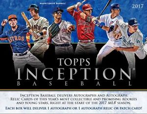 2017 Topps Inception Baseball Now Available @ Breakaway
