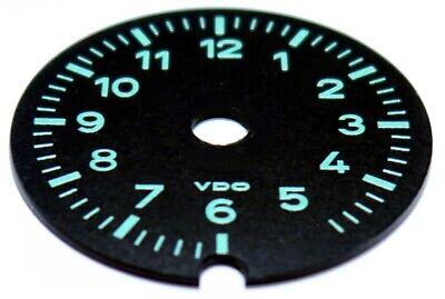 PORSCHE 356, PORSCHE 911/912, ZIFFERBLATT für VDO - Borduhr, grün, Polycarbonat