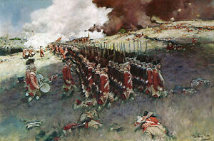 Battle of Bunker Hill  by Howard Pyle    Paper Print Repro
