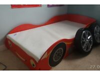 Race car kids junior bed (Red) and cot bed mattress inluded