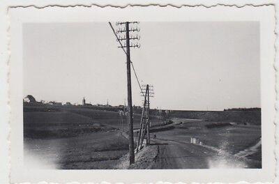 (F29002) Orig. Foto Norath, Weg mit Telegrafenmasten 1940