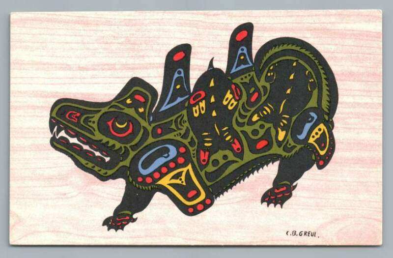 Wasgo+Seamonster%7EBritish+Columbia+Indian+PC+Artist-Signed+CB+Greul%7E1950s