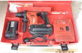 Hilti 36v TE-6A SDS hammer cordless Recent Service