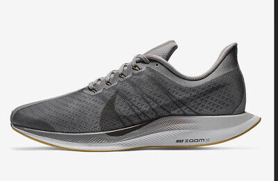 NIKE ZOOM PEGASUS 35 TURBO Men's Lace Up Grey Trainers Shoes Size UK 9.5
