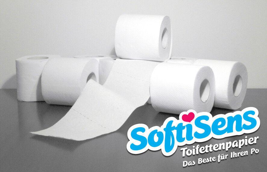 72 Rollen Toilettenpapier // Klopapier, 250 Blatt, 3-lagig, Zellstoff hochweiß