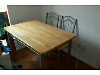 Table and 4 chairs will deliver if not to far away