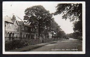 Postcard-Birmingham-Hall-Green-Real-Photo-Church-Road