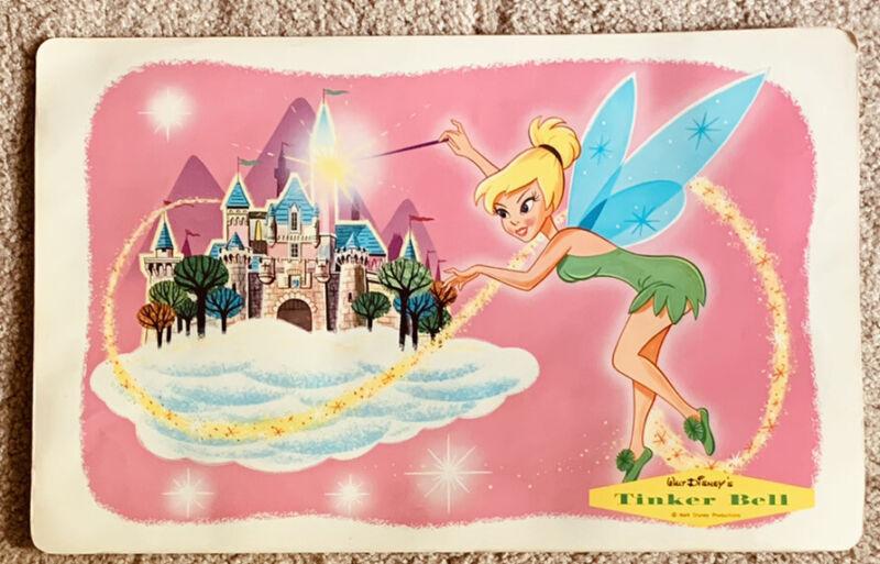 Walt Disney Placemat 1960's Vintage Tinker Bell