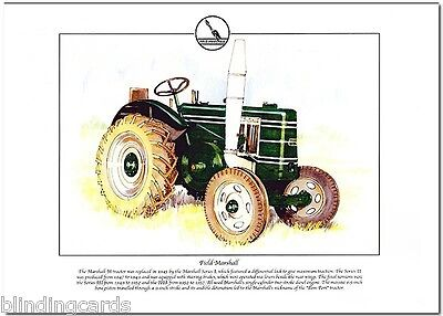 FIELD MARSHALL TRACTOR - Agricultural Fine Art Print - A4 size picture - 1945-57