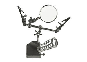 HELPING HANDS TOOL WITH MAGNIFIER & CLIPS