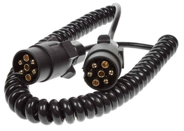 3.0m extension suzie curly cable for ifor williams,indespension trailer lights