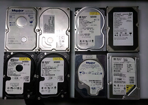 Lot of 8 IDE hard drives