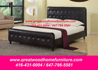 BRAND NEW QUEEN SIZE TUFTED BED...$199 ONLY