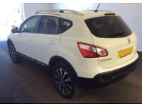 2012 WHITE NISSAN QASHQAI 1.5 DCI 110 N-TEC+ DIESEL HATCH CAR FINANCE FR £29 PW