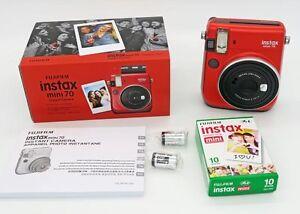 fuji instax mini 70 rouge cartouche 10 vues prix promo ebay. Black Bedroom Furniture Sets. Home Design Ideas