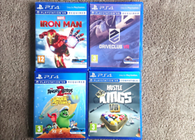 PS4 VR Games Driveclub Iron Man Angry Birds Kings Pool Playstation 4 P