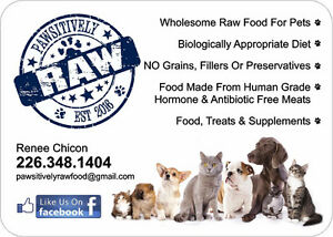 RAW FOOD FOR DOGS-PAWSITIVELY RAW