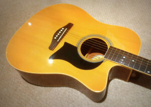 Washburn Acoustic Electric Guitar - $175