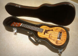 Soprano Acoustic Electric Ukulele + Hard Case - $99