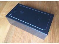I PHONE 7 128GB JET BLACK SIM FREE BRAND NEW SEALED
