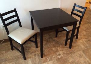 IKEA table and 2 chairs