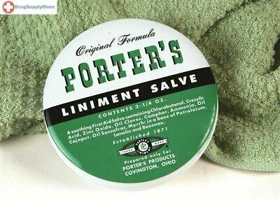 Orginal Formula Porter's Liniment Salve 2 Oz cuts burns