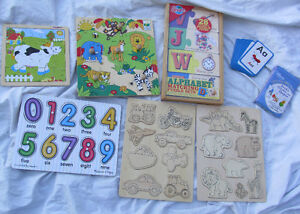 Puzzles for kids, alphabet, animals, flash cards, numbers, color