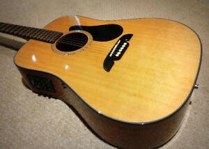 Alvarez Acoustic Electric Guitar - $225