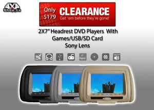 """Sale 2X7"""" Car DVD player Headrest clearence individual Players"""
