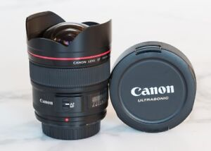 like new canon EF 14 2.8 L II USM ultra wide angle prime lens